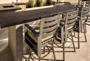 high back outdoor bar stools