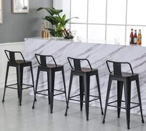 kitchen island size for bar stools set of 4
