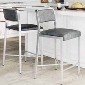 low back aluminium bar stools
