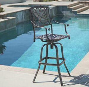 cast aluminium bar stools