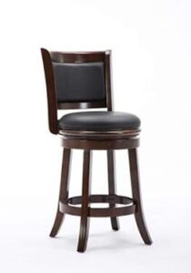 high back wooden swivel counter stools