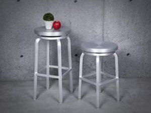 round aluminium bar stools
