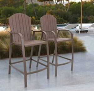 high back aluminium bar stools