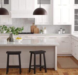 short wooden bar stools