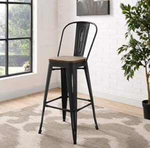industrial bamboo counter stools
