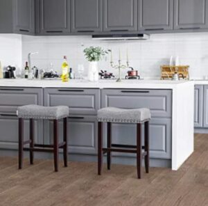 upholsterd bar stools for kitchen