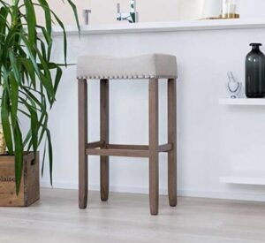leather top wooden bar stools