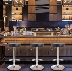 black round backless bar stools