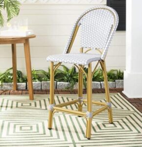 faux bamboo stool