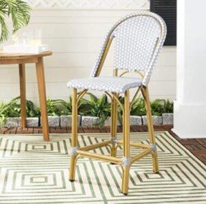 high back bamboo classic bar stools