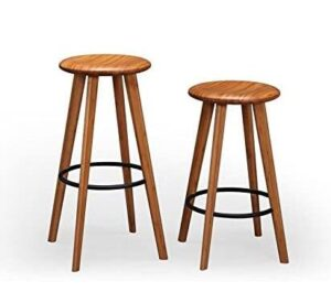 round seat bamboo counter stools