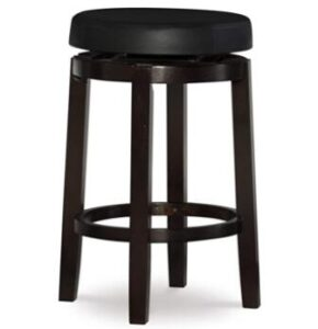 round wooden backless bar stools