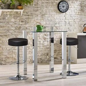 round leather bar stools