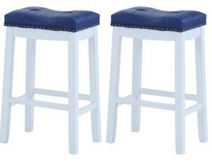 blue backless bar stools