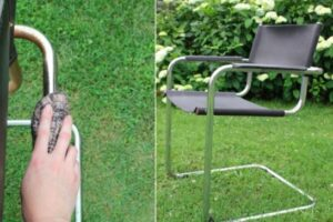 how to clean rusty bar stools