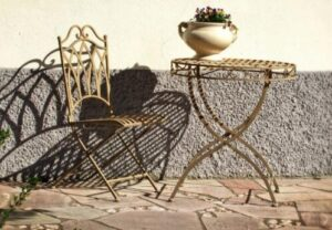 wrought iron bar stools