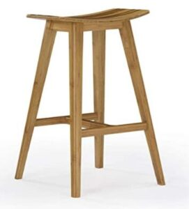 bamboo comfortable counter stools