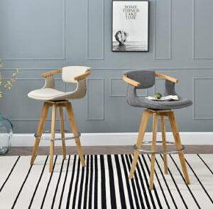 mid back bamboo counter stools