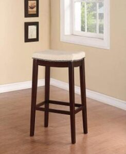 wooden backless bar stools