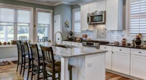 depth of kitchen counters for bar stools