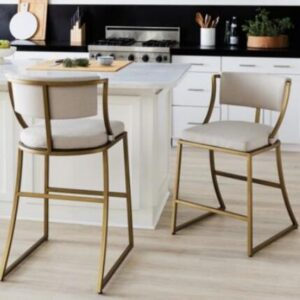 metal bar stool depth