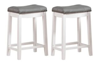 wooden leather bar stools