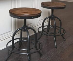 metal swivel backless bar stools