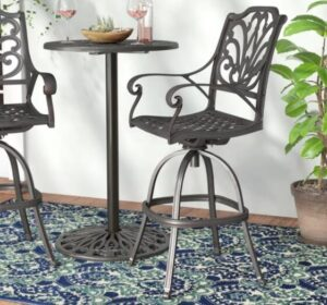 industrial aluminum bar stools