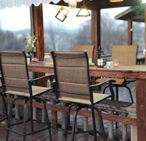 outdoor patio backless bar stools