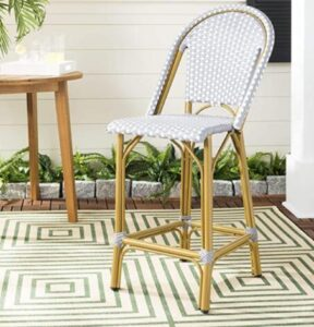 high back counter bamboo stools
