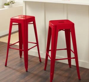 red backless bar stools for outdoor