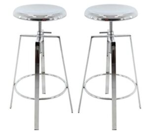 round metal backless bar stools