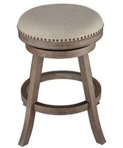 round wooden bar stools