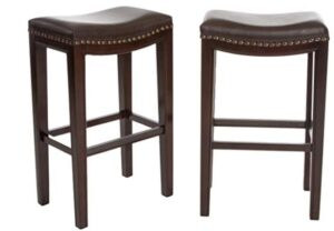 square leather bar stools
