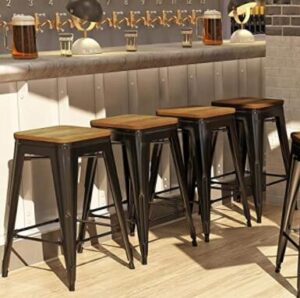 metallic bar stools