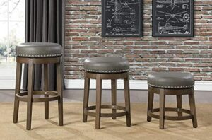 wooden leather top bar stools