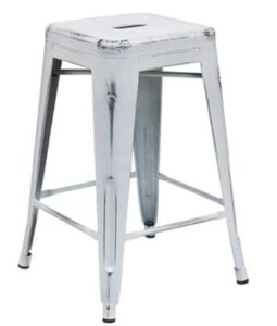 square metal backless bar stools