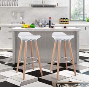 white backless bar stools