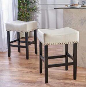 white counter bar stools