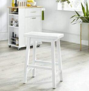 cheap white backless bar stools