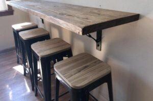 assembling backless bar stools
