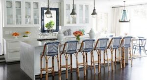 anchoring bar stools on the floor