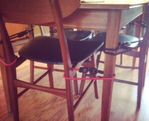 how to use baby proofing bar stools