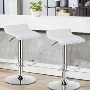 white swivel bar stools