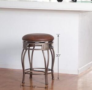 round leather bar stools