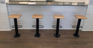 ways of bolting bar stools to the floor