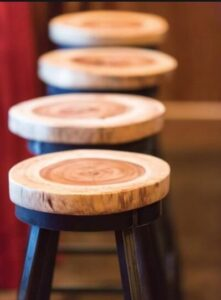 building bar stools in tree