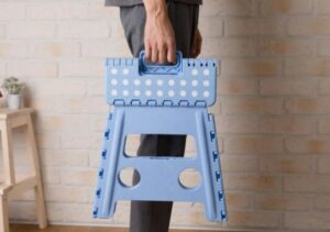 three step folding step stool