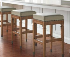 backless leather counter height stools