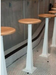 bolt down bar stools for safety